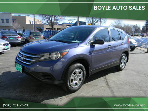 2013 Honda CR-V for sale at Boyle Auto Sales in Appleton WI