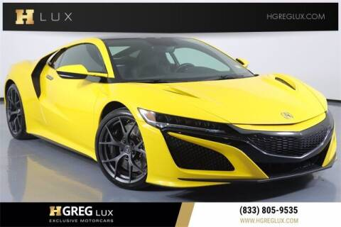 2020 Acura NSX for sale at HGREG LUX EXCLUSIVE MOTORCARS in Pompano Beach FL