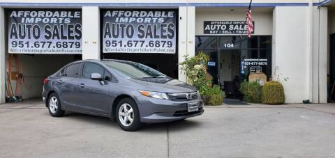 2012 Honda Civic for sale at Affordable Imports Auto Sales in Murrieta CA