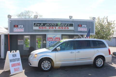 2012 Chrysler Town and Country for sale at D & B Auto Sales LLC in Washington Township MI