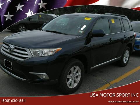 2012 Toyota Highlander for sale at USA Motor Sport inc in Marlborough MA