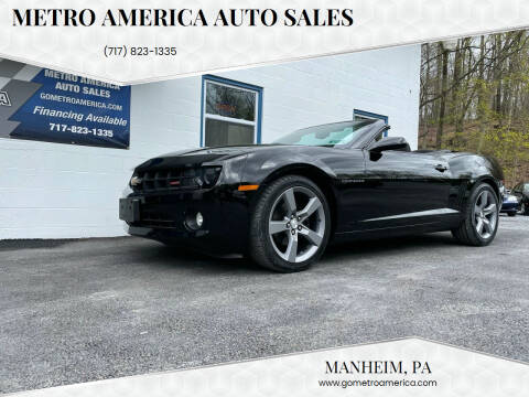2012 Chevrolet Camaro for sale at METRO AMERICA AUTO SALES of Manheim in Manheim PA