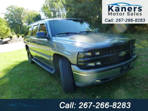 2001 Chevrolet Suburban for sale at Kaners Motor Sales in Huntingdon Valley PA