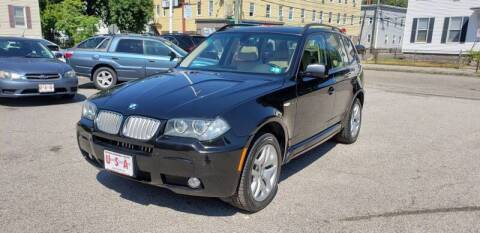 2008 BMW X3 for sale at Union Street Auto in Manchester NH
