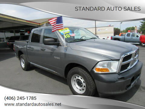 2010 Dodge Ram Pickup 1500 for sale at Standard Auto Sales in Billings MT