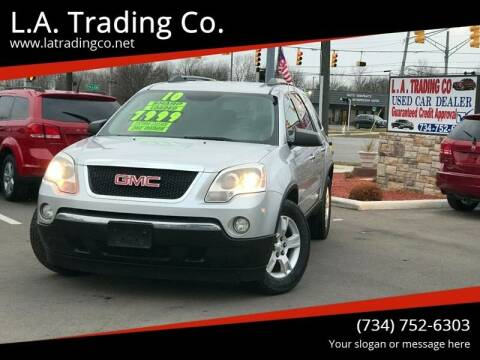2010 GMC Acadia for sale at L.A. Trading Co. Woodhaven in Woodhaven MI