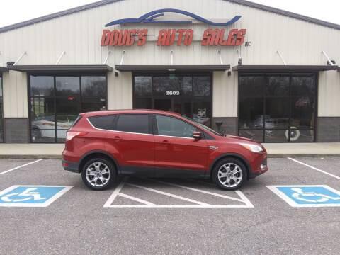 2013 Ford Escape for sale at DOUG'S AUTO SALES INC in Pleasant View TN