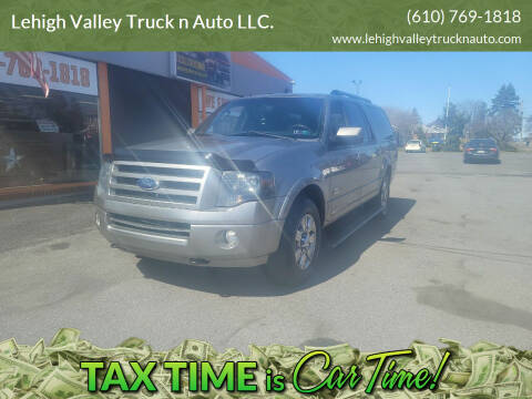 2008 Ford Expedition EL for sale at Lehigh Valley Truck n Auto LLC. in Schnecksville PA
