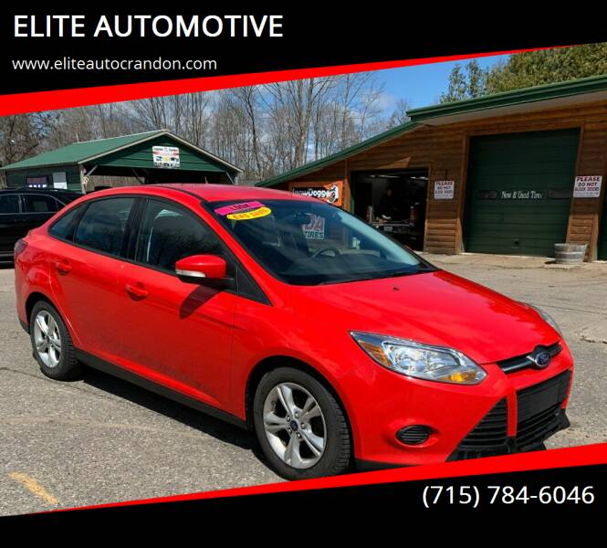 2014 Ford Focus for sale at ELITE AUTOMOTIVE in Crandon WI