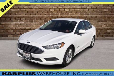 2018 Ford Fusion Hybrid for sale at Karplus Warehouse in Pacoima CA