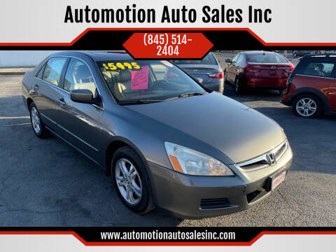 2006 Honda Accord for sale at Automotion Auto Sales Inc in Kingston NY