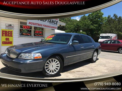 2005 Lincoln Town Car for sale at Acceptance Auto Sales Douglasville in Douglasville GA