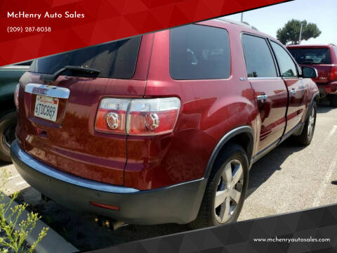 2011 GMC Acadia for sale at McHenry Auto Sales in Modesto CA