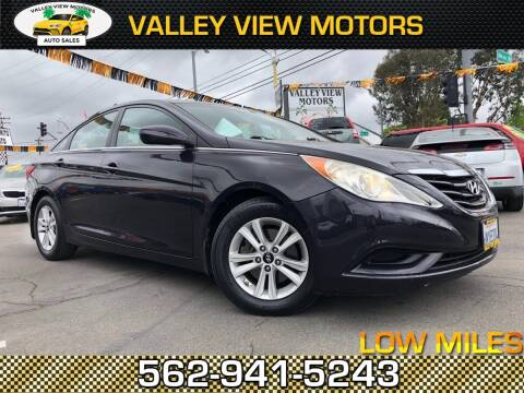 2011 Hyundai Sonata for sale at Valley View Motors in Whittier CA