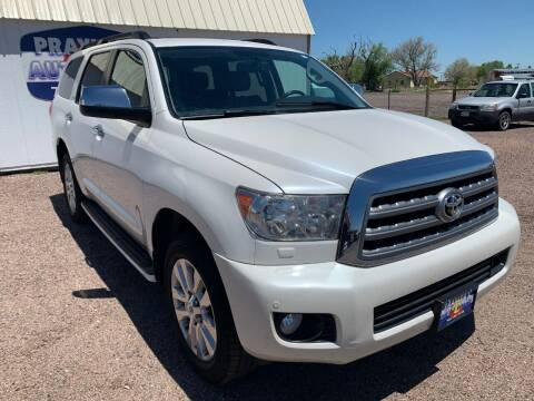 2012 Toyota Sequoia for sale at Praylea's Auto Sales in Peyton CO
