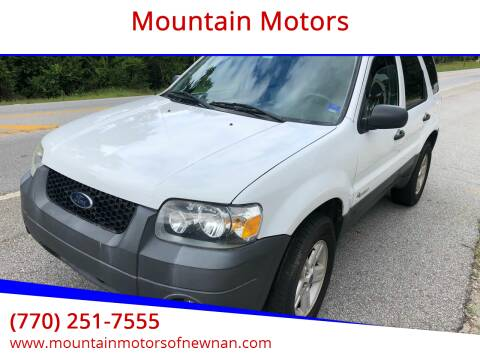 2005 Ford Escape for sale at Mountain Motors in Newnan GA