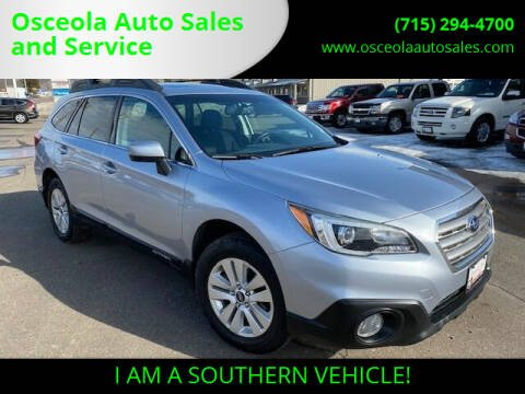 2015 Subaru Outback for sale at Osceola Auto Sales and Service in Osceola WI