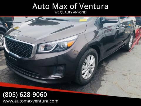 2017 Kia Sedona for sale at Auto Max of Ventura in Ventura CA