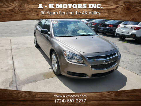 2011 Chevrolet Malibu for sale at A - K Motors Inc. in Vandergrift PA