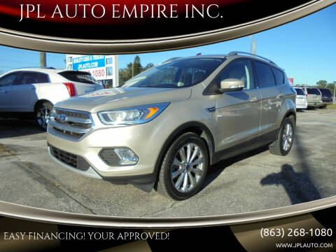 2017 Ford Escape for sale at JPL AUTO EMPIRE INC. in Auburndale FL