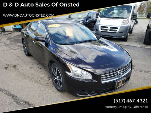 2011 Nissan Maxima for sale at D & D Auto Sales Of Onsted in Onsted MI