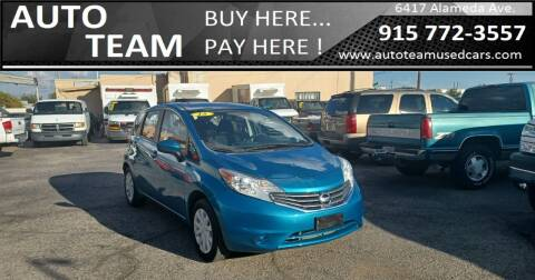 2015 Nissan Versa Note for sale at AUTO TEAM in El Paso TX