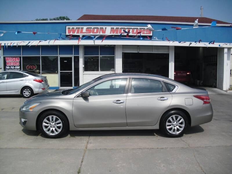 2013 Nissan Altima for sale at Wilson Motors in Junction City KS