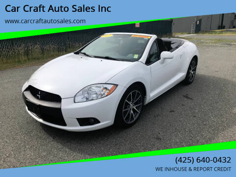 2012 Mitsubishi Eclipse Spyder for sale at Car Craft Auto Sales Inc in Lynnwood WA