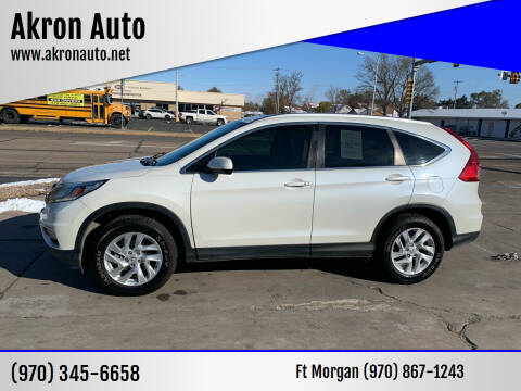 2016 Honda CR-V for sale at Akron Auto - Fort Morgan in Fort Morgan CO