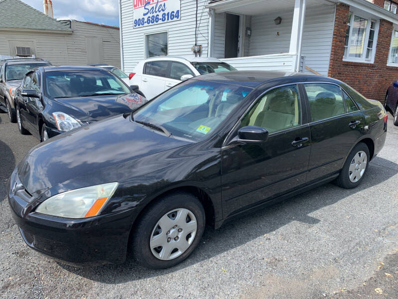 2005 Honda Accord for sale at UNION AUTO SALES in Vauxhall NJ