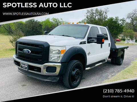 2011 Ford F-550 Super Duty for sale at SPOTLESS AUTO LLC in San Antonio TX
