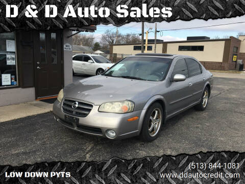 2002 Nissan Maxima for sale at D & D Auto Sales in Hamilton OH