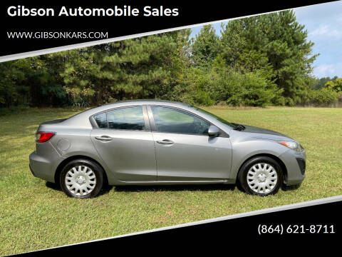 2011 Mazda MAZDA3 for sale at Gibson Automobile Sales in Spartanburg SC