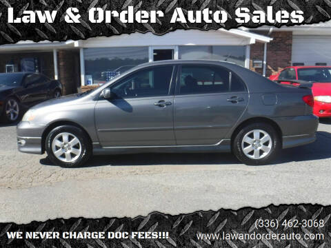 2006 Toyota Corolla for sale at Law & Order Auto Sales in Pilot Mountain NC
