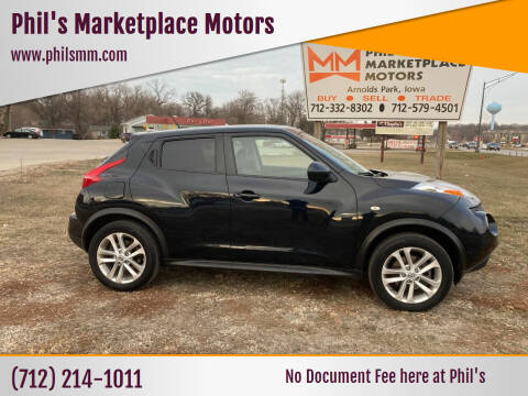2013 Nissan JUKE for sale at Phil's Marketplace Motors in Arnolds Park IA