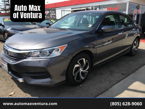 2017 Honda Accord for sale at Auto Max of Ventura in Ventura CA