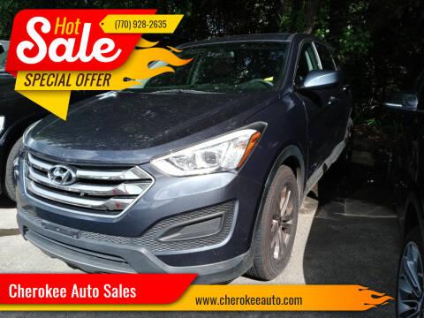 2015 Hyundai Santa Fe Sport for sale at Cherokee Auto Sales in Acworth GA