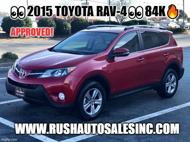 2015 Toyota RAV4 for sale at RUSH AUTO SALES in Burlington NC