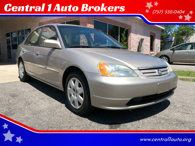 2002 Honda Civic for sale at Central 1 Auto Brokers in Virginia Beach VA