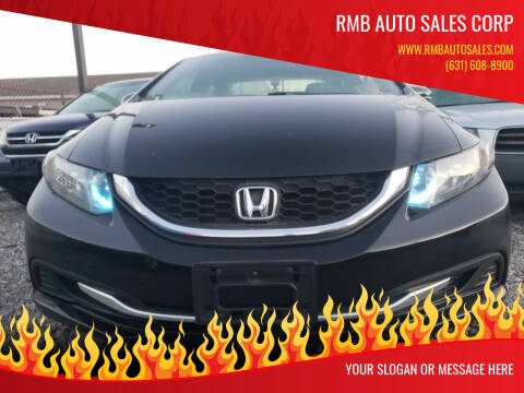 2014 Honda Civic for sale at RMB Auto Sales Corp in Copiague NY