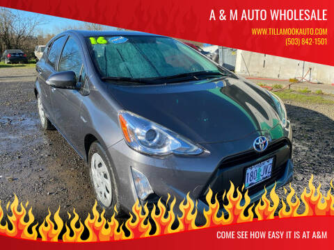 2016 Toyota Prius c for sale at A & M Auto Wholesale in Tillamook OR