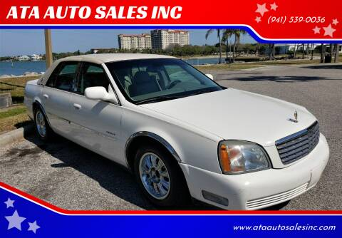 2002 Cadillac DeVille for sale at ATA   AUTO SALES INC in Sarasota FL