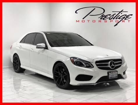 2015 Mercedes-Benz E-Class for sale at Prestige Motorsport in Rancho Cordova CA