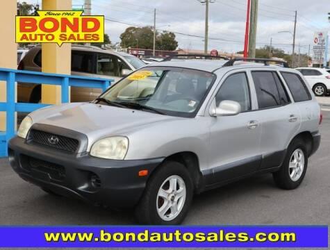2003 Hyundai Santa Fe for sale at Bond Auto Sales in St Petersburg FL