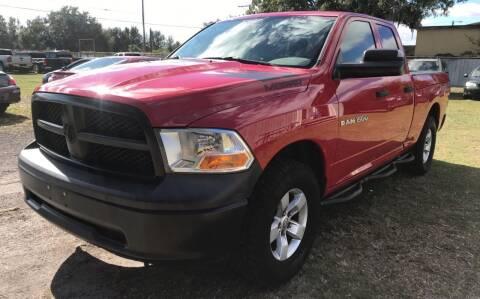 2012 RAM Ram Pickup 1500 for sale at MISSION AUTOMOTIVE ENTERPRISES in Plant City FL