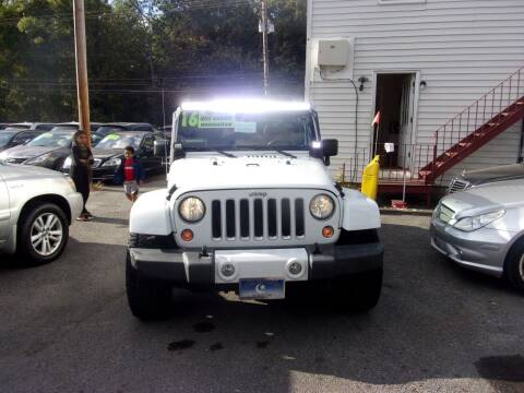 2016 Jeep Wrangler Unlimited for sale at Balic Autos Inc in Lanham MD