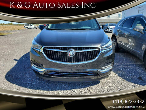 2019 Buick Enclave for sale at K & G Auto Sales Inc in Delta OH