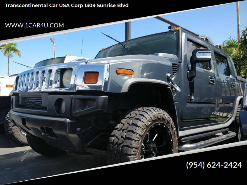 2005 HUMMER H2 SUT for sale at Transcontinental Car in Fort Lauderdale FL