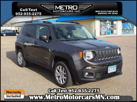 2017 Jeep Renegade for sale at Metro Motorcars Inc in Hopkins MN