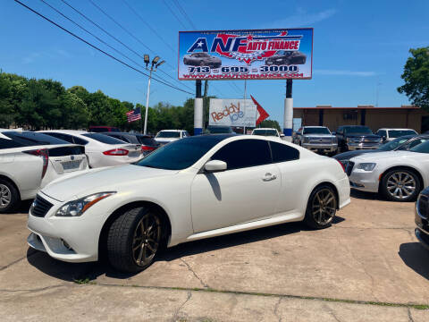 2013 Infiniti G37 Coupe for sale at ANF AUTO FINANCE in Houston TX